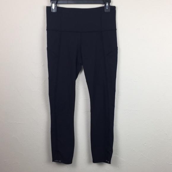aafeb5239be3fd lululemon athletica Pants - Lululemon Black Leggings with Side Pockets Sz 6